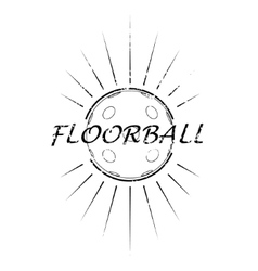 Floorball logo the team and the cup vector