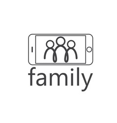 happy family selfie design template vector image vector image