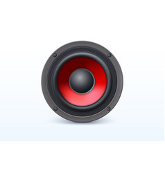 Loud speaker with red diffuser isolated on white vector