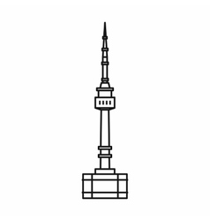 Namsan tower in Seoul icon outline style vector image