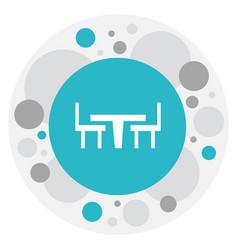 Of restaurant symbol on desk vector