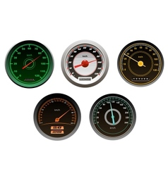 Racing cars speedometers set vector image