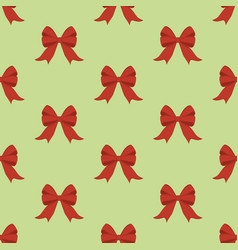 red bow seamless pattern vector image