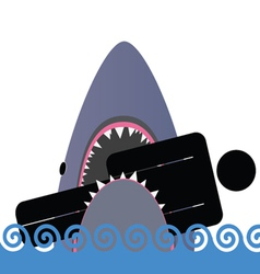 shark icon color vector image vector image