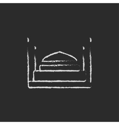 Taj Mahal icon drawn in chalk vector image