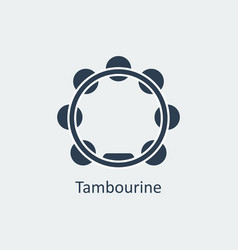 Tambourine icon silhouette icon vector