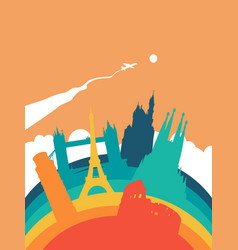 travel europe world landmark landscape vector image