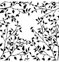 tree branches with leaves and berries vector image