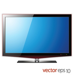 TV flat lcd screen realistic vector image