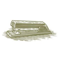 woodcut stapler vector image vector image