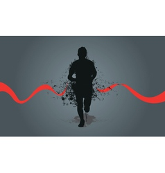 Runner background vector