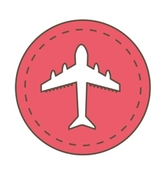 Airplane fly vehicle isolated icon vector