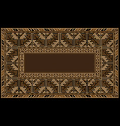 Ethnic carpet with armenian vintage ornament in br vector
