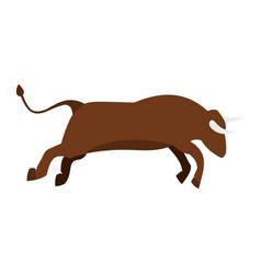 bull icon flat style vector image