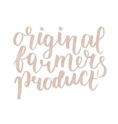 Farmer s market label original farmers product vector