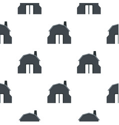 Blacksmith workshop building pattern flat vector