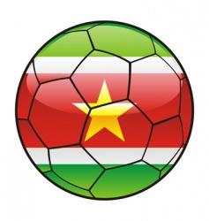 suriname flag on soccer ball vector image