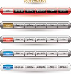 Website button bars template vector