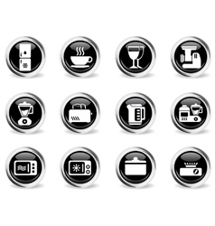 Kitchen utensils icon set vector