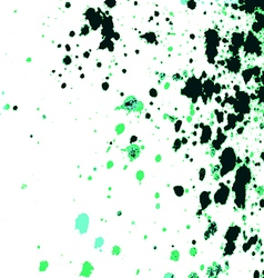 Colorful acrylic paint splatter on white backgroun vector