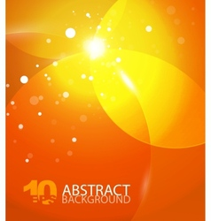 abstract orange sky background vector image vector image
