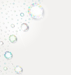 Background of diamonds for design vector image