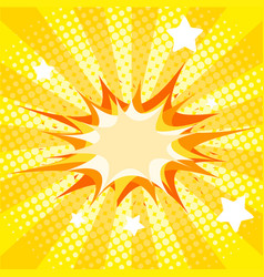 Background template with yellow splash vector