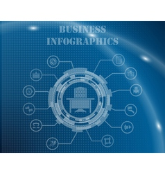 Business Infographic Template vector image vector image