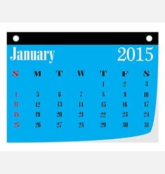Calendar january 2015 vector