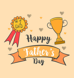 Card for dad happy father day vector