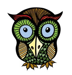 Color owl graphic vector image