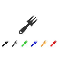 cultivator rake icon vector image