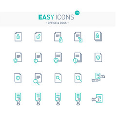 Easy icons 17e docs vector