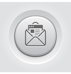 Email Marketing Icon Grey Button Design vector image