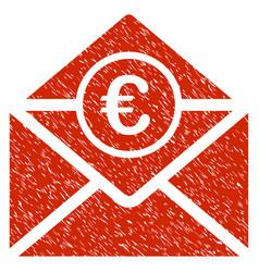 Euro mail icon grunge watermark vector