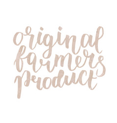 Farmer s market label original farmers product vector