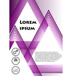 Flyer cover leaflet book bill template in vector
