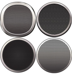 four round speakers grilles vector image vector image
