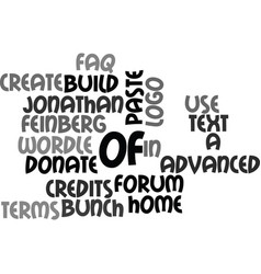 It s good to be goofy text background word cloud vector