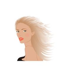 Portrait of blonde woman vector image vector image