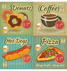 Retro Menu vector image