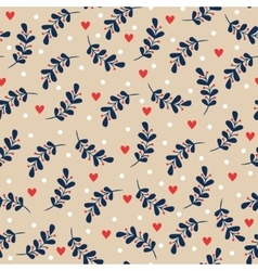 Seamless christmas floral background vector