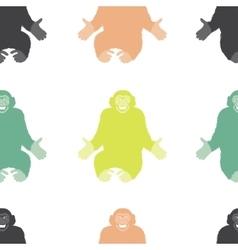 Seamless Pattern of a Monkey chimpanzee vector image