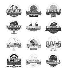Sport icons - set vector image vector image
