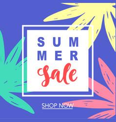 Summer sale modern banner template background vector