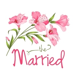 The married card vector image vector image