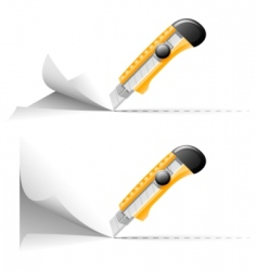 wallpaper knife cut paper vector image vector image