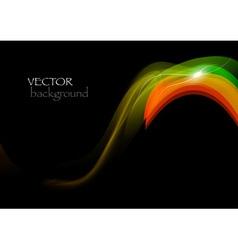 wave neon vector image vector image