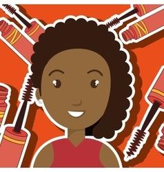 Woman make up brush vector