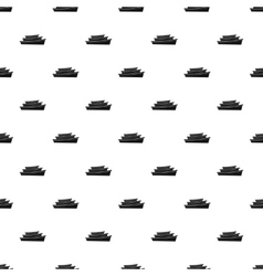 Wooden boats pattern simple style vector image